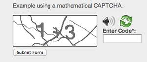 Math Solution captcha